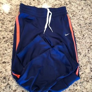 Blue and Peach Nike Running Pants Athletic Wear